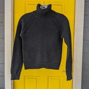 Zara S/M Black LS Turtleneck Sweater - cotton